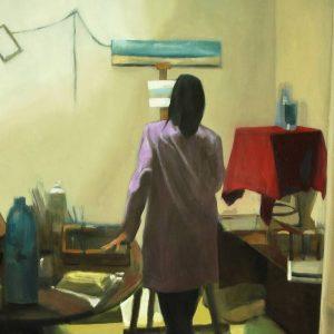 Detalle Obra Ángela - Serie A nosotros - Artista pintor Antonio Morales Prats