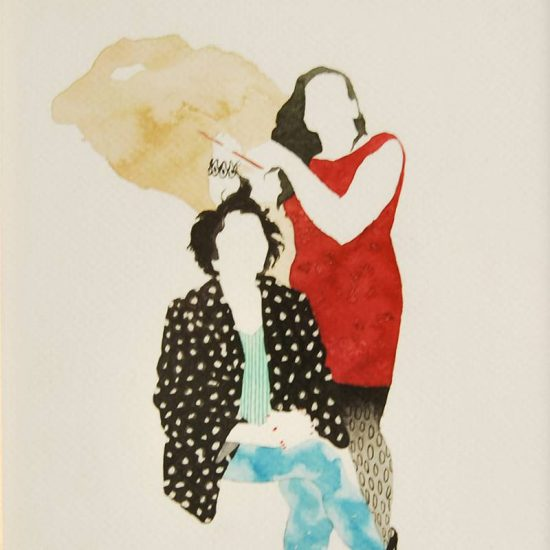 Detalle Obra 80's party - Serie Descarados - Artista Antonio Morales Prats