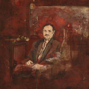 Detalle Obra Abuelo - Serie A nosotros - Artista pintor Antonio Morales Prats