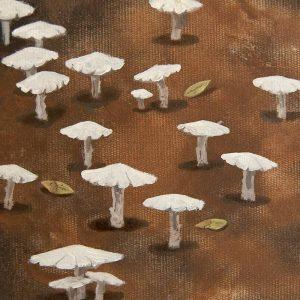 Detalle Obra Amanita II - Pintura - Serie Natura - Artista pintor Antonio Morales Prats