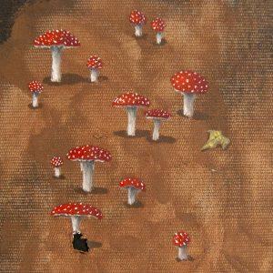 Detalle Obra Amanita muscaria - Pintura - Serie Natura - Artista pintor Antonio Morales Prats