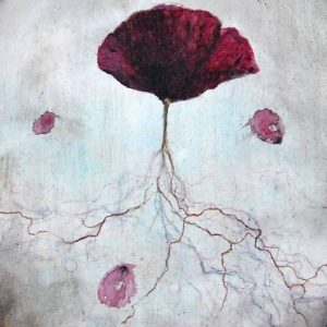 Detalle Obra Amapola - Pintura - Serie Natura - Artista pintor Antonio Morales Prats