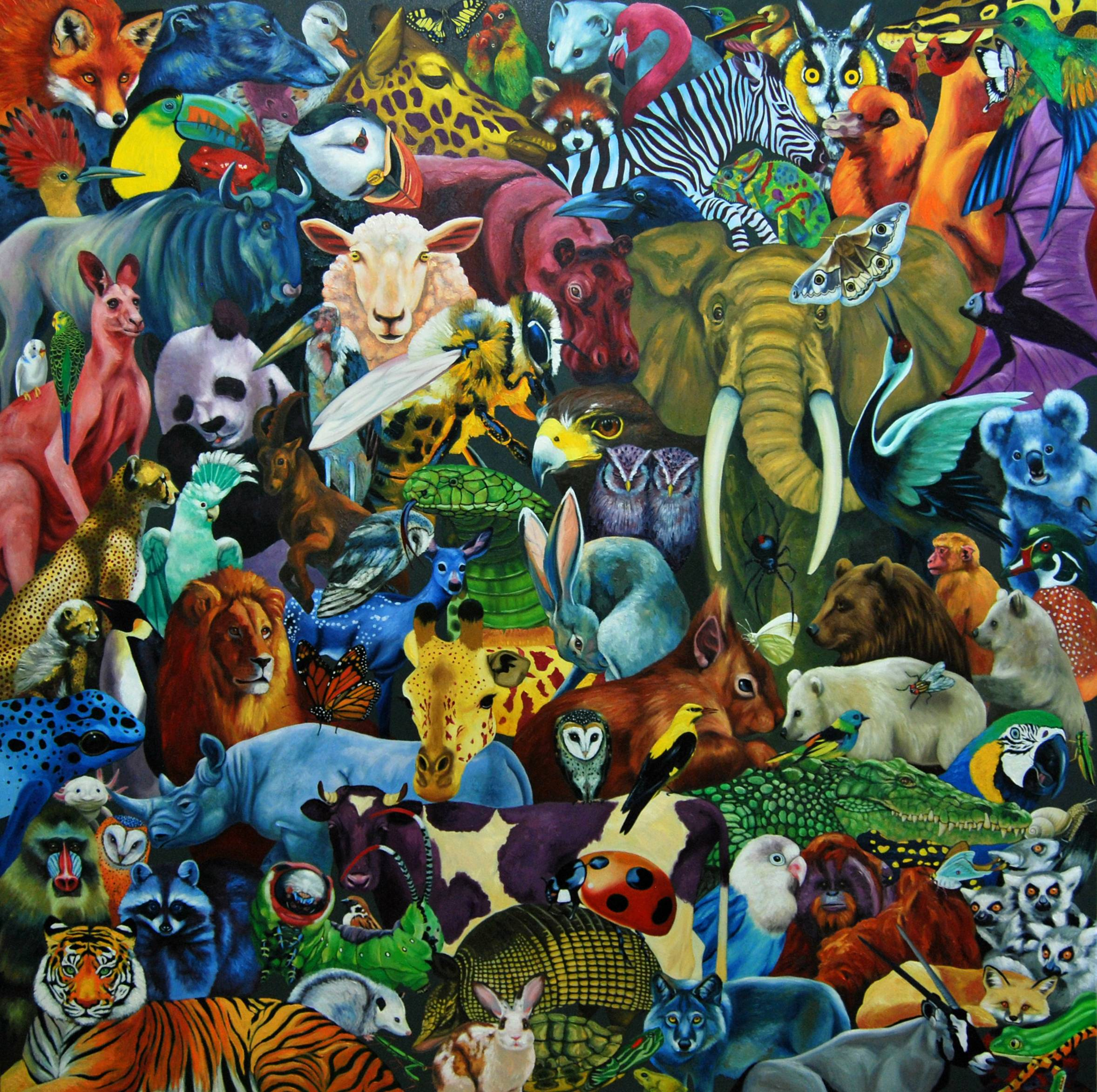 Detalle Obra Bestiario - Serie Colorzoo - Artista Antonio Morales Prats