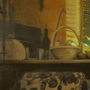 Detalle Obra Bodegón - Serie A nosotros - Artista pintor Antonio Morales Prats