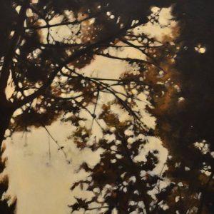 Detalle Obra Bosque perdido 0 - Pintura - Serie Natura - Artista pintor Antonio Morales Prats