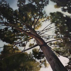 Detalle Obra Bosque perdido III - Pintura - Serie Natura - Artista pintor Antonio Morales Prats