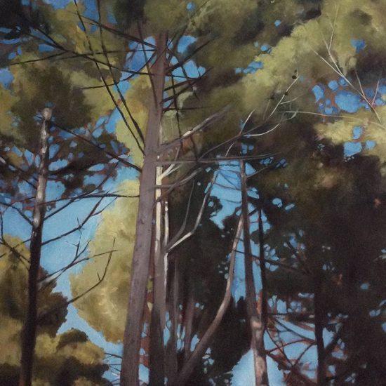 Detalle Obra Bosque perdido IV - Pintura - Serie Natura - Artista pintor Antonio Morales Prats