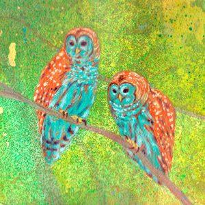 Detalle Obra Buhos - Serie Colorzoo - Artista Antonio Morales Prats