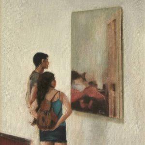 Detalle Obra Cuadro de Eva - Serie A nosotros - Artista pintor Antonio Morales Prats