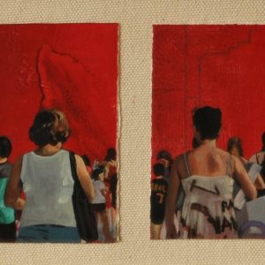 Detalle Obra Desconocidas - Serie A nosotros - Artista pintor Antonio Morales Prats