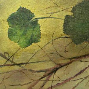 Detalle Obra Escupe flores - Serie Cocina de Autor - Artista pintor Antonio Morales Prats