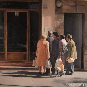 Detalle Obra Esquelas - Serie A nosotros - Artista pintor Antonio Morales Prats