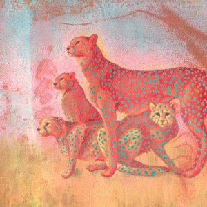 Detalle Obra Guepardo - Serie Colorzoo - Artista Antonio Morales Prats