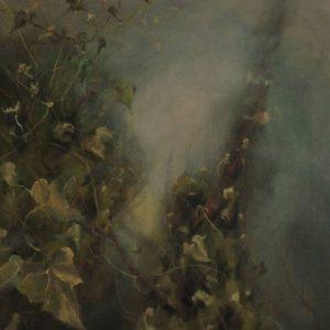 Detalle Obra HIedra - Pintura - Serie Natura - Artista pintor Antonio Morales Prats