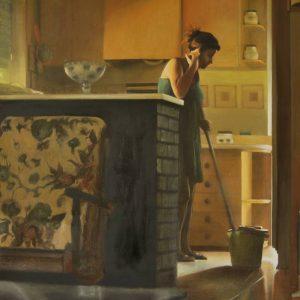 Detalle Obra Hermana - Serie A nosotros - Artista pintor Antonio Morales Prats