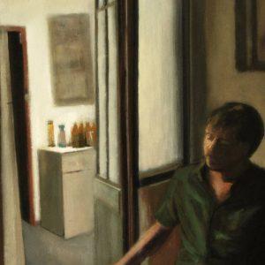 Detalle Obra La casica - Serie A nosotros - Artista pintor Antonio Morales Prats