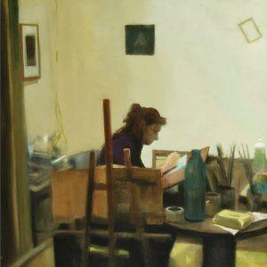 Detalle Obra Mª Lina - Serie A nosotros - Artista pintor Antonio Morales Prats