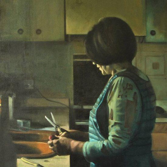 Detalle Obra Mamá - Serie A nosotros - Artista pintor Antonio Morales Prats