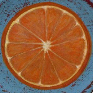 Detalle Obra Media naranja - Serie Cocina de Autor - Artista pintor Antonio Morales Prats