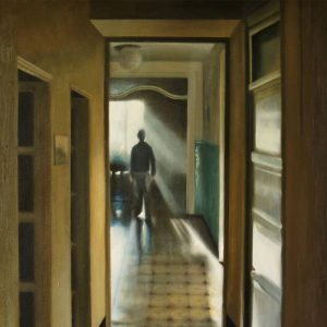 Detalle Obra Pasillo hogar - Serie A nosotros - Artista pintor Antonio Morales Prats