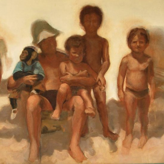 Detalle Obra Playa - Serie A nosotros - Artista pintor Antonio Morales Prats