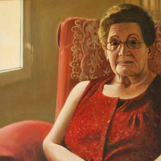 Detalle Obra Retrato Abuela - Serie A nosotros - Artista pintor Antonio Morales Prats