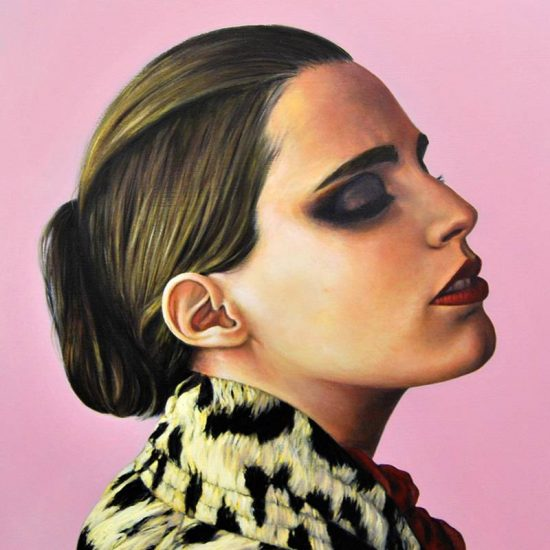 Detalle Obra Retrato Anna Calvi - Serie Musas - Artista pintor Antonio Morales Prats