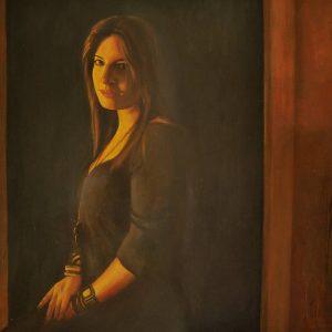 Detalle Obra Retrato Calíope - Serie A nosotros - Artista pintor Antonio Morales Prats