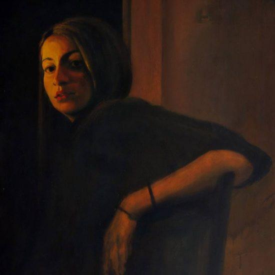 Detalle Obra Retrato Erato - Serie A nosotros - Artista pintor Antonio Morales Prats