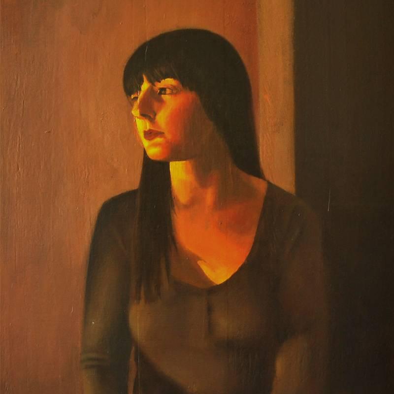 Detalle Obra Retrato Euterpe - Serie A nosotros - Artista pintor Antonio Morales Prats