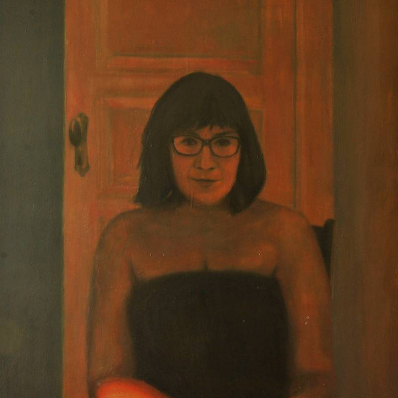 Detalle Obra Retrato Talía - Serie A nosotros - Artista pintor Antonio Morales Prats