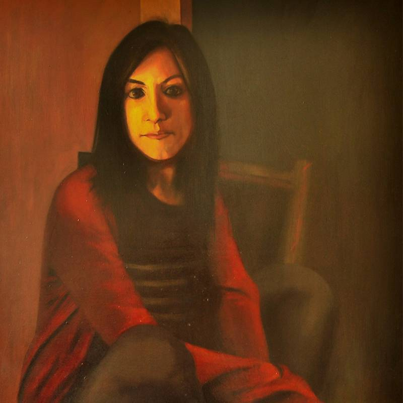 Detalle Obra Retrato Terpsícore - Serie A nosotros - Artista pintor Antonio Morales Prats