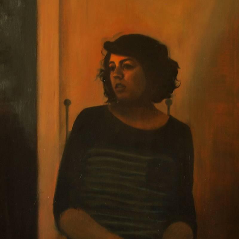 Detalle Obra Retrato Urania - Serie A nosotros - Artista pintor Antonio Morales Prats