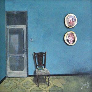 Detalle Obra Sala con camafeos - Serie A nosotros - Artista pintor Antonio Morales Prats