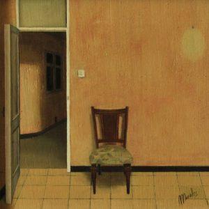 Detalle Obra Silla hogar - Serie A nosotros - Artista pintor Antonio Morales Prats