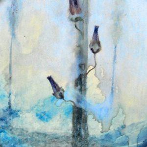 Detalle Obra Tres flores - Pintura - Serie Natura - Artista pintor Antonio Morales Prats