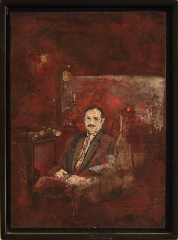 Obra Abuelo - Serie A nosotros - Artista pintor Antonio Morales Prats