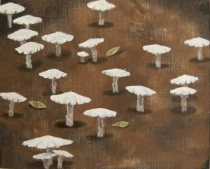Obra Amanita II - Pintura - Serie Natura - Artista pintor Antonio Morales Prats
