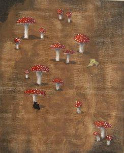 Obra Amanita muscaria - Pintura - Serie Natura - Artista pintor Antonio Morales Prats
