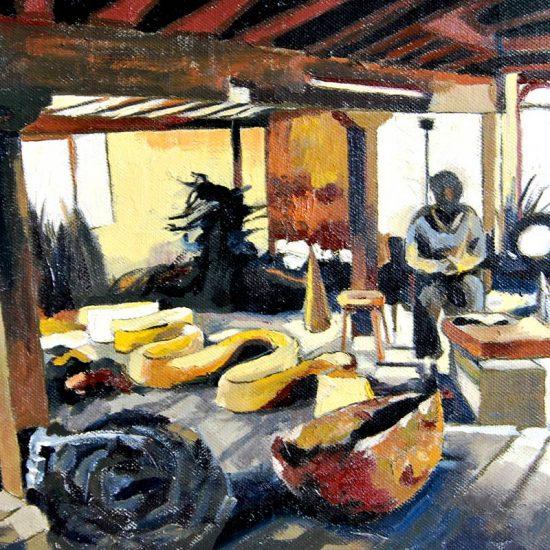 Detalle Estudio Andy Goldsworthy - Serie Artistudios - Artista pintor Antonio Morales Prats