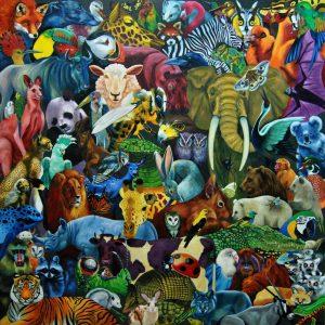 Obra Bestiario - Serie Colorzoo - Artista Antonio Morales Prats