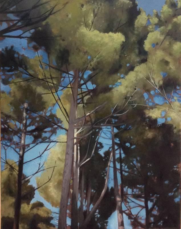 Obra Bosque perdido IV - Pintura - Serie Natura - Artista pintor Antonio Morales Prats