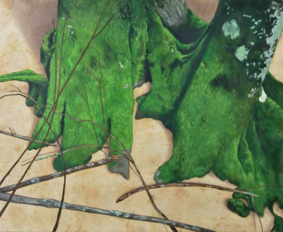Obra Bryiophyta sensu stricto - Pintura - Pintor Antonio Morales Prats - Proyecto Kryptos Natura Stationalis