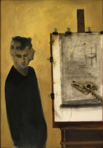 Obra Cabreado - Serie A nosotros - Artista pintor Antonio Morales Prats
