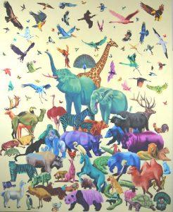 Obra Colorzoo - Serie Colorzoo - Artista Antonio Morales Prats