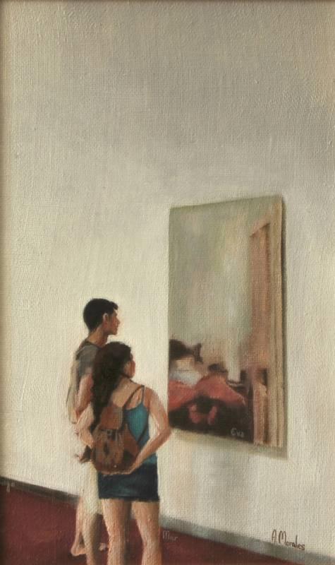 Obra Cuadro de Eva - Serie A nosotros - Artista pintor Antonio Morales Prats