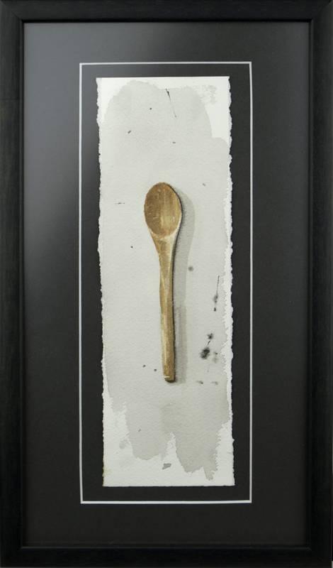 Obra Cuchara de madera - Serie Cocina de Autor - Artista pintor Antonio Morales Prats