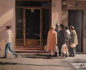Obra Esquelas - Serie A nosotros - Artista pintor Antonio Morales Prats