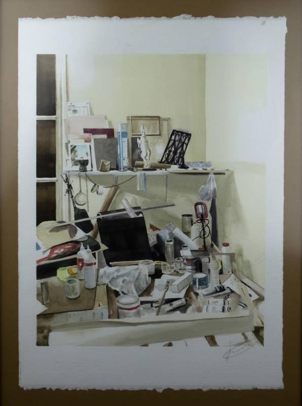 Obra Estudio caos - Serie A nosotros - Artista pintor Antonio Morales Prats