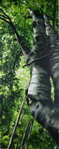 Obra Fagus Sylvatica II - Pintura - Serie Natura - Artista pintor Antonio Morales Prats